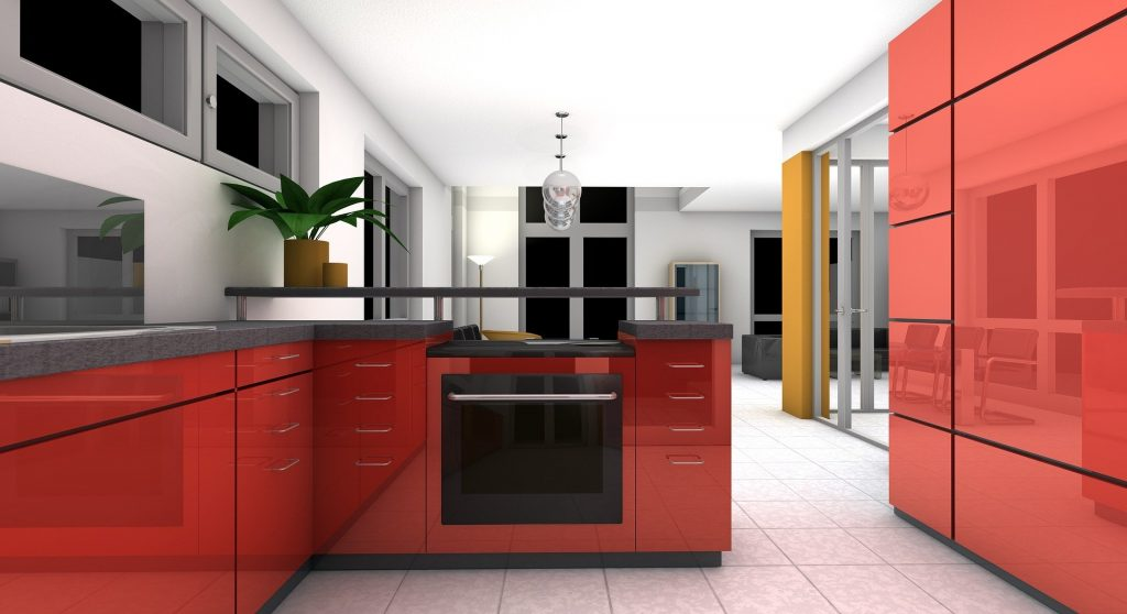A photograph of a Kitchen to help with the Kitchen vocabulary them for the Duolingo exam.